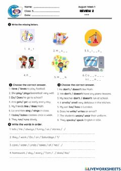 Interactive worksheet Review 1