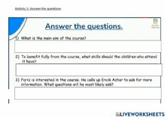 Interactive worksheet Hello 999 reading pg54 and 55