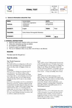 Interactive worksheet Future forms 8th grade