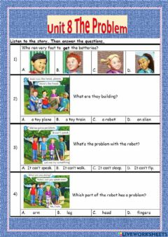 Interactive worksheet Unit 8 The Problem (The Robot)