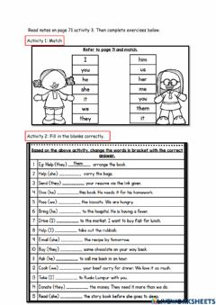 Interactive worksheet Get smart plus 4 MODULE 7: HELPING OUT