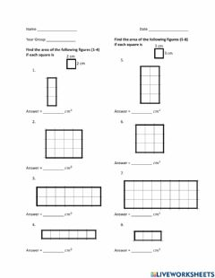 Interactive worksheet Area - Scaling Up