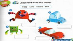 Interactive worksheet Worksheet for Super Minds pg 29 MY FAVOURITE TOY