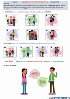 Interactive worksheet Covid-19 its impact in our family