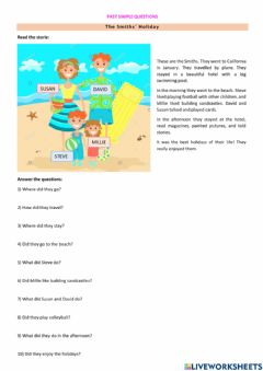 Interactive worksheet Past Simple Questions