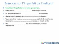 Interactive worksheet French