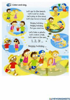 Interactive worksheet Let's Go To The Beach