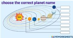 Interactive worksheet 6 th THE UNIVERSE AND SOLAR SYSTEM