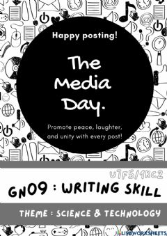 Interactive worksheet GN09 - Writing Skill - The Media Day