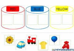 Interactive worksheet Primary Colours