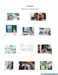 Interactive worksheet At the office present simple