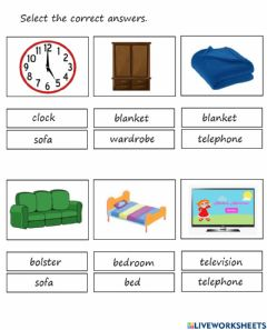 Interactive worksheet Things in the house