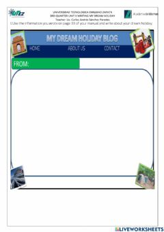 Interactive worksheet My dream holiday