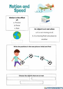 Interactive worksheet Motion and speed