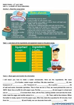 Interactive worksheet Unit 9 - A Heart of Gold