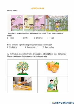 Interactive worksheet Agricultura