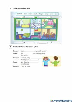 Interactive worksheet Furniture of the house