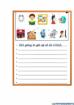 Interactive worksheet Going to ( singular and plural)