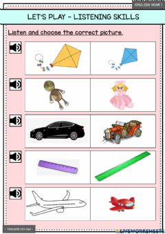 Ficha interactiva Let's Play - Listening Skills (Page 25)