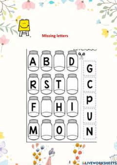 Interactive worksheet Missing Letters