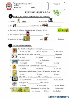 Interactive worksheet Everybody Up 4 - Revision 1