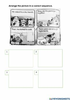 Interactive worksheet Mr Rooster a cook