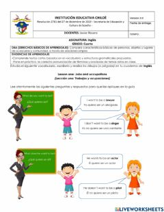Interactive worksheet Lesson one: Jobs and occupations