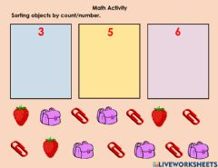 Ficha interactiva Sorting by count