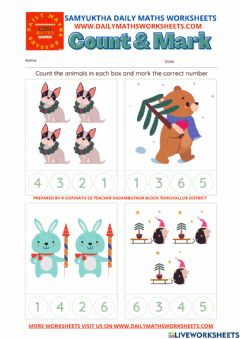 Interactive worksheet Maths numbers  count
