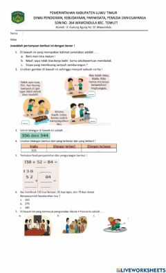 Interactive worksheet Pht1st4