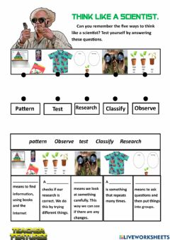 Interactive worksheet Think Like a Scientist