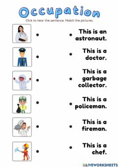 Interactive worksheet Occupation: Reading 2