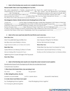 Interactive worksheet The News - Conspiracy Theories