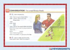 Interactive worksheet Listening exercise about sports