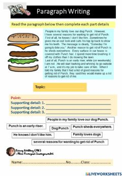 Ficha interactiva Paragraph and details