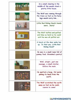 Interactive worksheet Little Red Riding Hood ep5