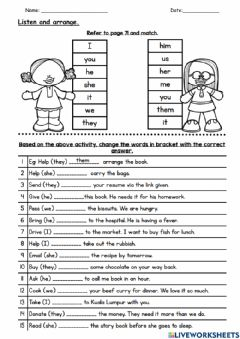 Interactive worksheet Module 7 - Helping Out