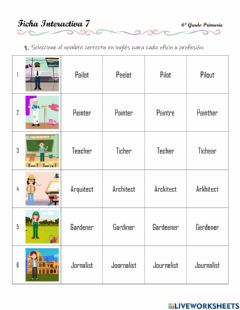Interactive worksheet Jobs and occupations - 3.5.6°