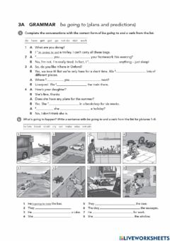 Interactive worksheet Going to