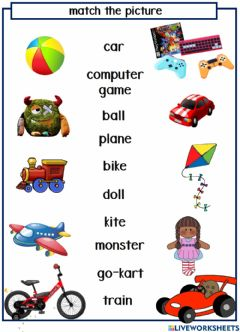 Interactive worksheet Let's Play Toy Shop