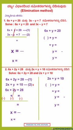Interactive worksheet Linear equations in two variables-1