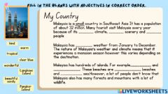 Interactive worksheet My Country Unit 4 Pulse 2
