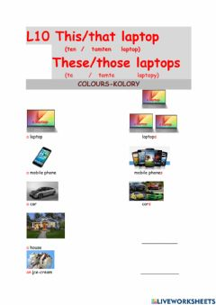 Interactive worksheet L014These laptops