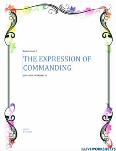 Interactive worksheet Expression of commanding