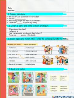 Interactive worksheet House- ing actions