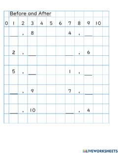 Interactive worksheet Before or After