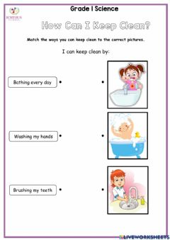 Interactive worksheet How to Keep Clean
