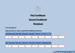 Ficha interactiva First Conditional Vs Second Conditional