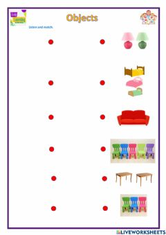 Interactive worksheet Objects in my house
