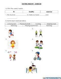 Interactive worksheet Staying Healthy
